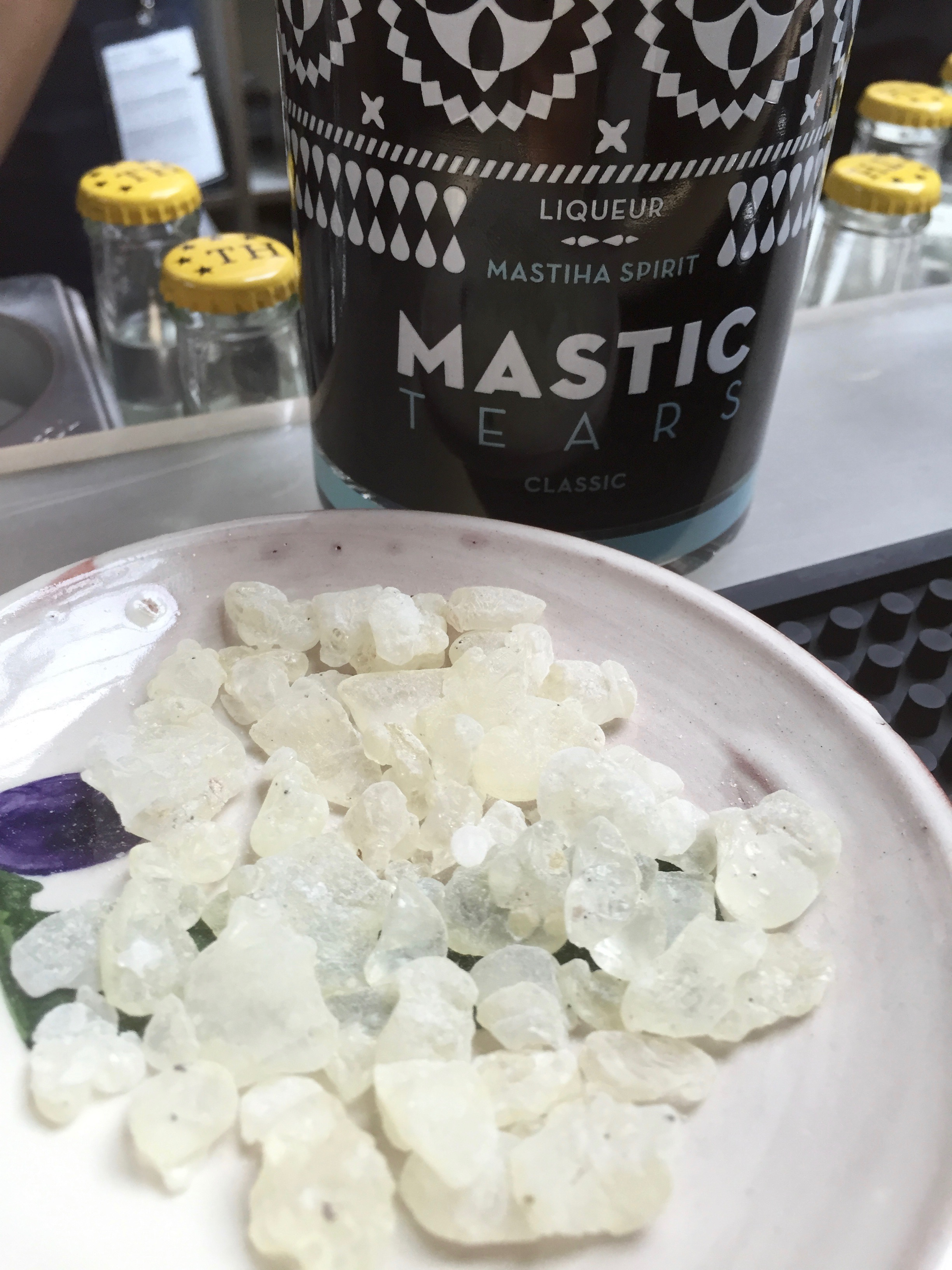 Mastica liqueur called Mastic Tears.